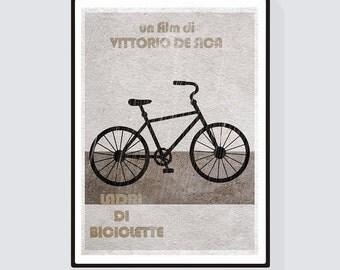 Ladri di biciclette (The Bicycle Thief) Minimalist Alternative Movie Print & Poster
