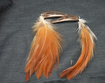 Feather Barrette, Natural