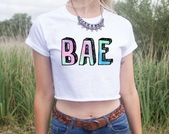 BAE Crop Top Shirt Pastel Blogger Fashion You Got a or Nah? Fangirl Boyfriend