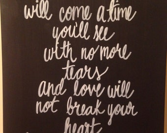 Mumford and sons hand painted canvas quote