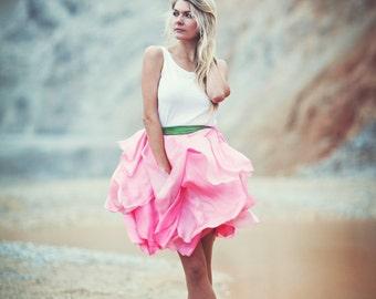 Peony petal skirt
