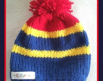 Barcelona Team Light colors Boy's Hat with Pompom