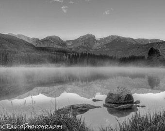 Photo Art - Black & White Photography - Mountain Lake