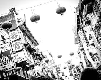 San Francisco Chinatown-Black and White-Travel Photography-Fine Art Photo
