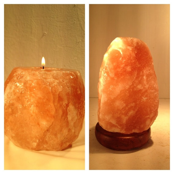 Himalayan Salt Lamps And Candle Holders : Himalayan Salt Lamp and Candle holder. by ALIBABA420 on Etsy