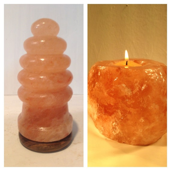 Himalayan Salt Lamp and Candle Holder. by ALIBABA420 on Etsy