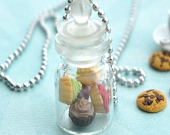 cupcakes in a jar necklace