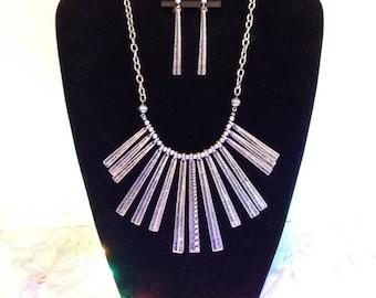 Silver Necklace & earrings