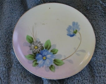 Meito Fine China, Hand Painted in Japan, Decorative Plate, Home Decoration, Asian Scenery, Wall Hanging, Smaller Plate, Nice Flowers