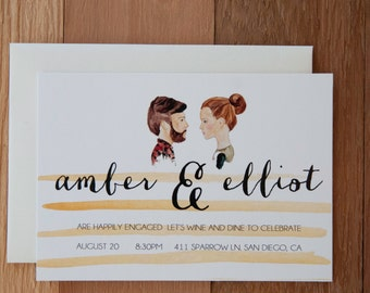 Engagement Announcement & Party Invite