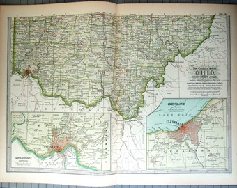 Original 1897 Map of Southern Ohio