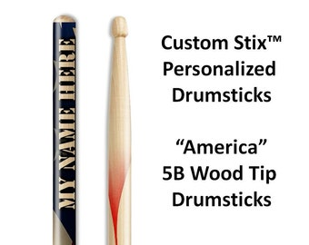 Personalized Drumsticks with Attitude! One pair with each order. These are great gifts for drummers and musicians.