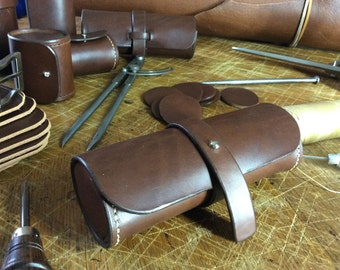 Case genuine leather, handmade in France by Koffpolo