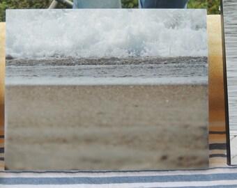 Emerald Isle photo canvas,  closeup of a breaking wave, Crystal Coast, Atlantic Beach, beach canvas photo, beach house decor, beach art