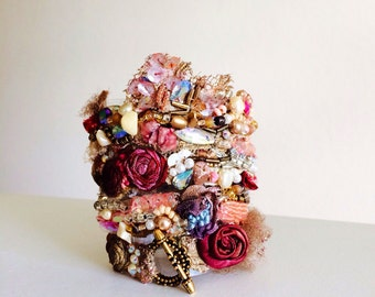Romantic Beaded Rhinestone Bracelet - Roma