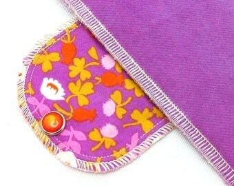 Extra Absorbent Moonpads Organic Reusable Cloth Menstrual Pads - 70s Garden Limited Edition