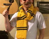 Wizarding School Hufflepuff Inspired Scarf - the Later Years