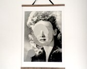 Anonymous portrait number 3 / canvas and wood print / Poster / Art