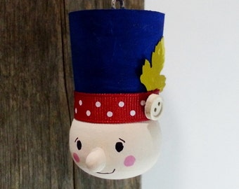 Wooden 3D Drummer Boy Ornament, Holiday Christmas Tree Ornament, Painted Wood Soldier, Winter, Home Decor, Gift topper