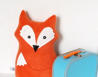 READY TO SHIP Fox Pillow Orange Fox Softie Plush Stuffed Animal Children's Soft Toy