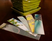 One of a Kind Fractal 'Slice' Bookmark Assortment - Spring Greens (set of 5)