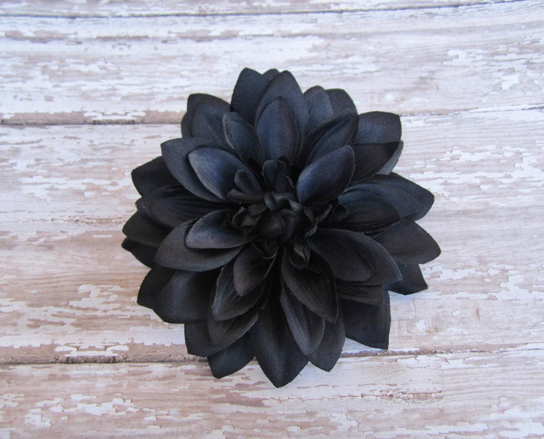 Black Dahlia Hair Flower Clip by LilaJo on Etsy