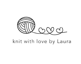 knit with love rubber stamp