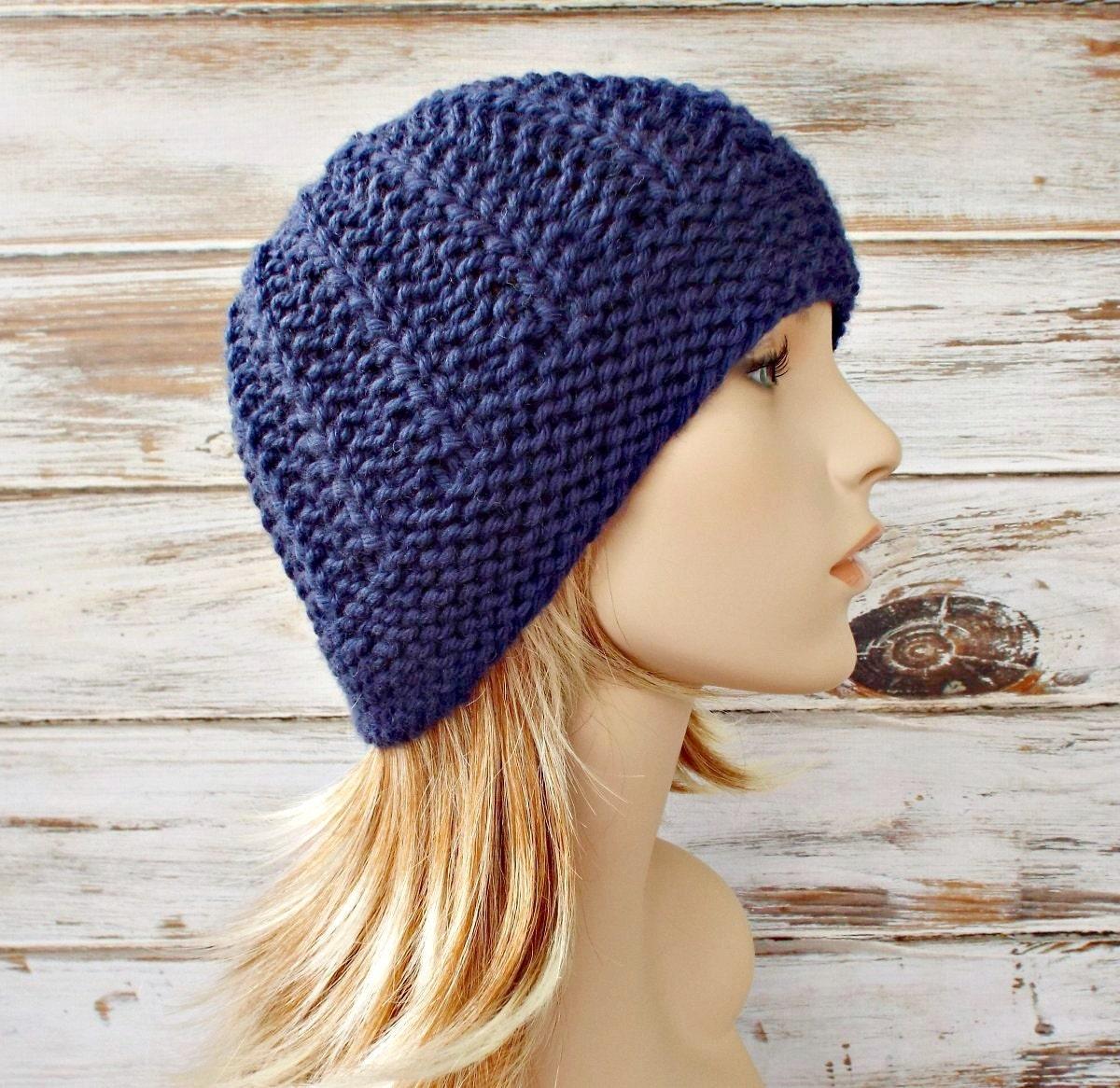 Instant Download Knitting Pattern Womens Beanie Pattern