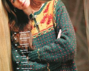 Knitting Patterns Sweaters Knitter's Magazine Fall 2004 Jacket Pattern Hat Knitting Pattern Women Paper Original NOT PDF