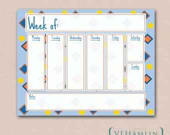 Printable Weekly Planner - Printable Planner - To Do List - Weekly Calendar - Printable Organizer - Instant Download | Confetti