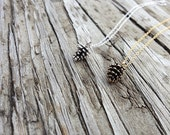 silver pine cone necklace | gold pine cone necklace | gift for her