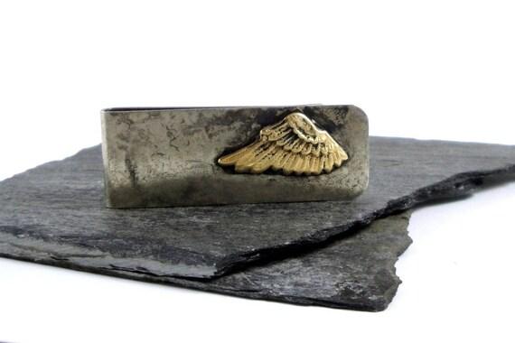 Brass Wing, Nickel Silver Wide Money Clip -Mens Gift under 50