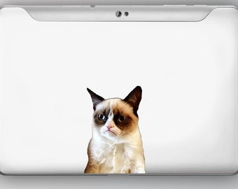 Grumpy Cat Vinyl Decal Sticker iphone cell phone tablet