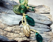 Ear Cuff Woodland Fairy Ear Climber, No Piercing Spring Green Boho Forest Fantasy Ear Vine, Gifts for Her, Stocking Stuffer, Elven Jewelry
