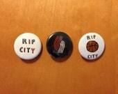 Portland Trail Blazers 1 inch Button Pin Set of 3