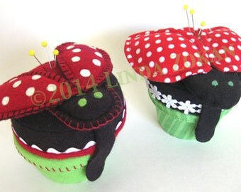 Pincushion pattern - Lucy the ladybug pincushion sewing pattern