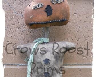 Fall Autumn Scrappy Jack  Doll 278e Primitive Crows Roost Prims epattern  immediate download