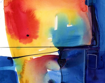 Meditations ... No.34 in Series ... Original Abstract water media painting by Kathy Morton Stanion EBSQ