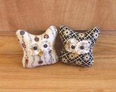 Primitive Folk Art Fall Hoot Owl bowl filler Ornament Decoration