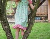 PDF SEWING PATTERN - Ramblin' Raglan Mega Pattern Pack - size 18mos - 14 - peasant dress, raglan dress, nightgown pattern, raglan sleeves