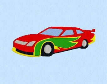 Race car - Machine Embroidery Design File