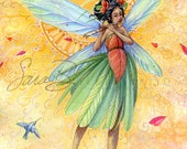 Fairy Art - Summer Garden Fairy Print - Song of Summer