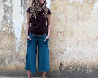 Organic Perfect Pockets Gauchos ( light hemp and organic cotton knit ) - Organic Pants :