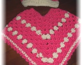 Baby Item...Poncho with Hat... 3 months to 6 months***Crocheted by ggCreations***