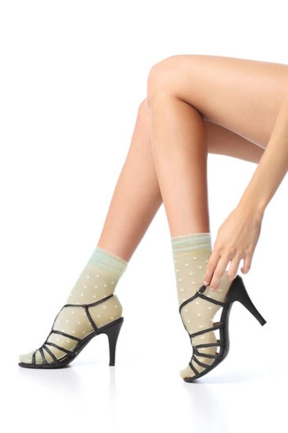 Items similar to Lace Socks , Short Socks, ankle Lace ...