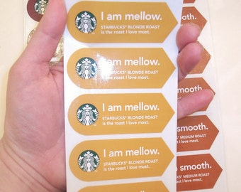 I am Mellow - Starbucks Coffee Stickers - 10 Stickers for 2.50