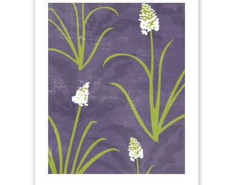 ART302: Camas and Soaproot Block Print Art Reproduction