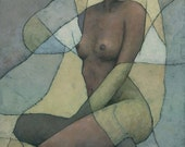 RESERVED Sonora, Original Female Nude Figure Painting