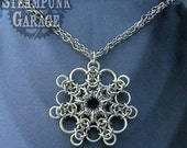 Dramatic Snowflake Chainmaille Pendant