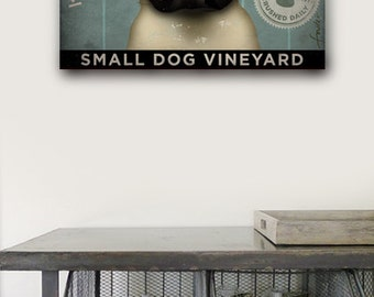 PUG Wine Company original illustration graphic artwork on gallery wrapped canvas by Stephen Fowler
